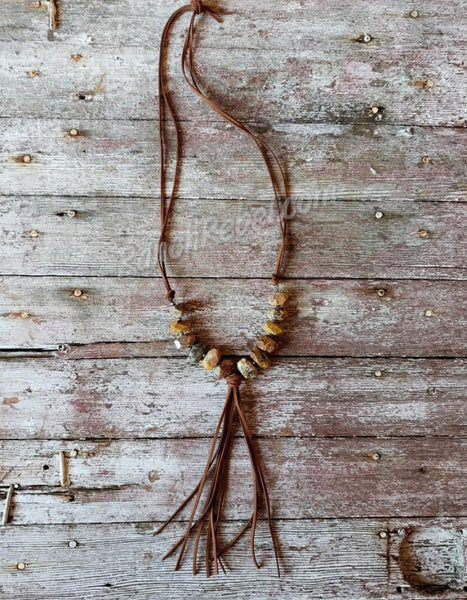 Chunky Crazy Agate Necklace #2475