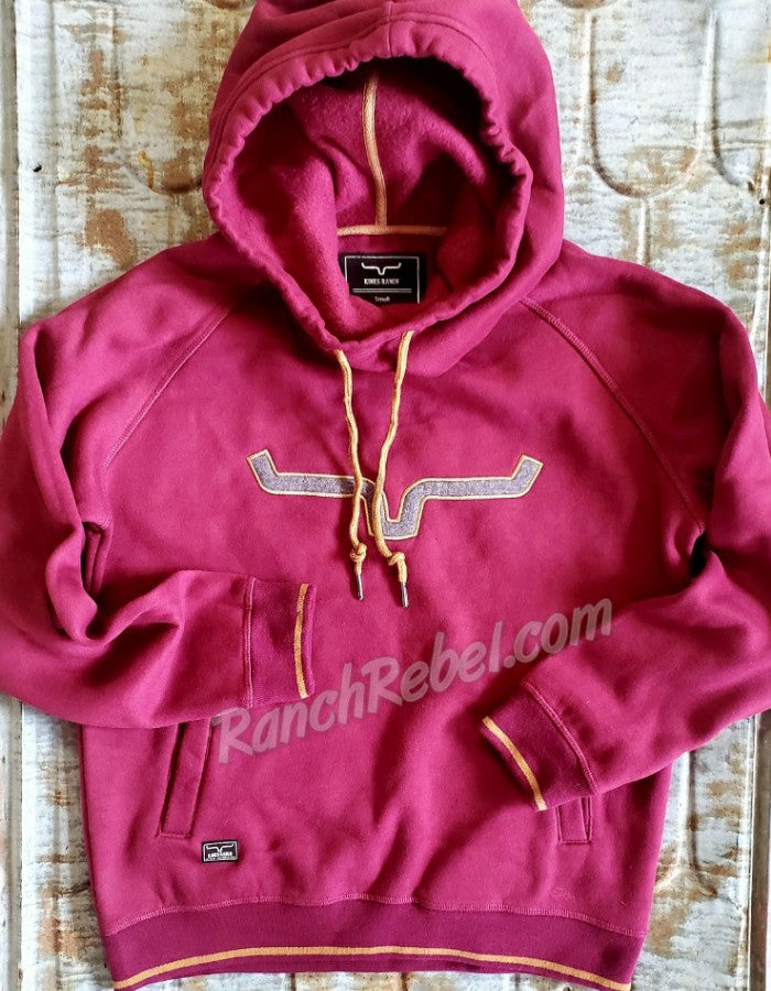 Kimes Ranch Two Scoops Hoodie in Wine #3560