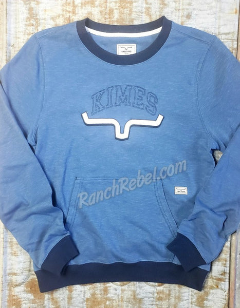 Kimes Ranch Upside Crew in Blue #3480