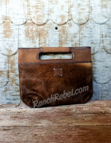 STS Cowhide Flat Rock Clutch #3318-2