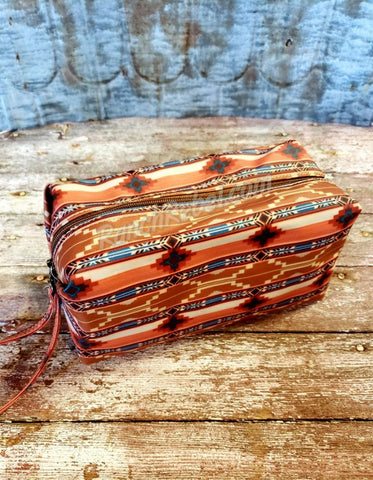 Sand Aztec Large Cosmetic Bag #3649