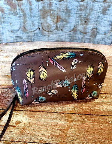 Feathered Arch Cosmetic Bag #3643