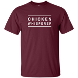 Chicken Whisperer G200 Gildan Ultra Cotton T-Shirt 2 lines - one on top one at the bottom