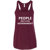 People Before Government, Bella+Canvas Flowy Racerback Tank, Trump
