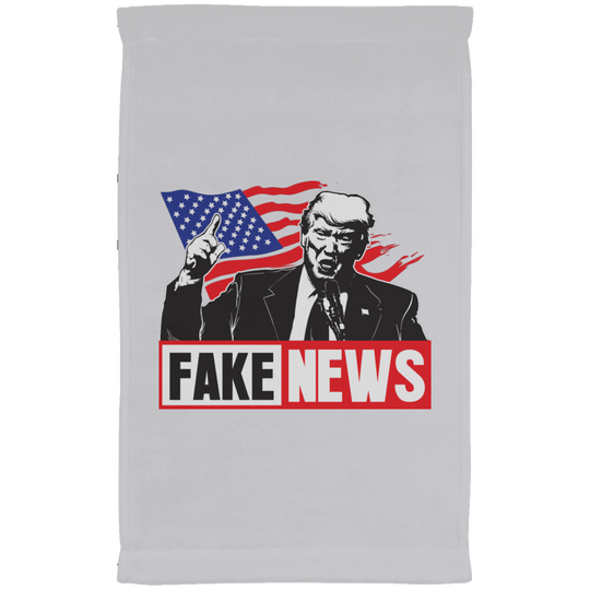 Fake News Trump with Union Jack  Kitchen Towel