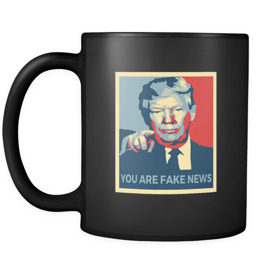 You Are Fake News, Trump Pointing at You Mug
