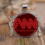 FNN Fake News Network Trump Necklace Antique Brass