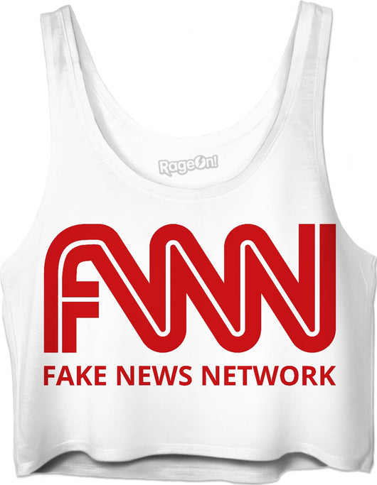 Fnn Fake News Network Trump Crop Top