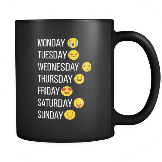 Emoji Mug - make my week with emojis