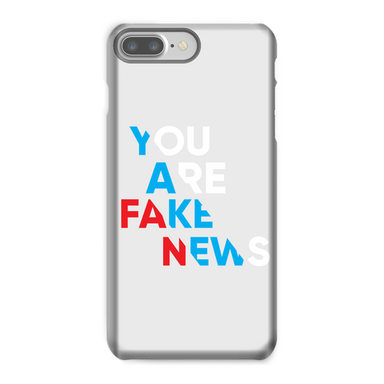 you are fake news diagonal Phone Case