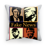 Fake News Trum 4 Heads Fake News Cushion, Trump 4 heads