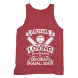 Brother Loving Game Watching Fine Jersey Tank Top Brother Loving Baseball Sister