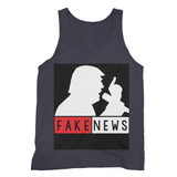 Fake News Trump with Mic Fine Jersey Tank Top