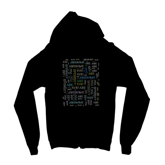 You Are Awesome -cloud Kids Zip Hoodie