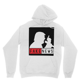 Fake News Trump with Mic Heavy Blend Hooded Sweatshirt