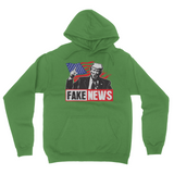 Fake News Trump Union Jack Finger Up Fake News Trump Hoodie, American Flag Fine Jersey