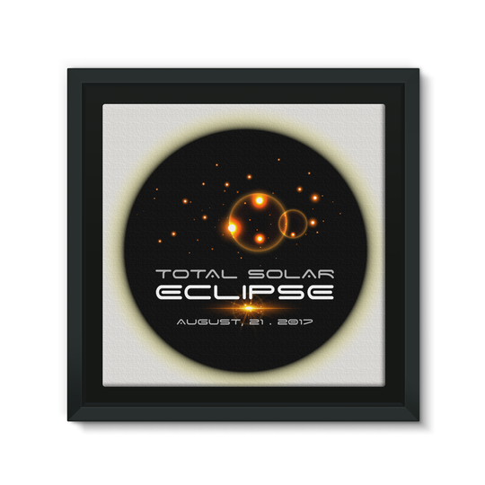 Total Solar Eclipse 8/21/2017 Framed Canvas