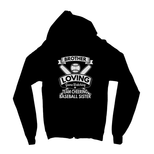 Brother Loving Game Watching Kids Zip Hoodie