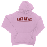 Fake News with Lines College Hoodie