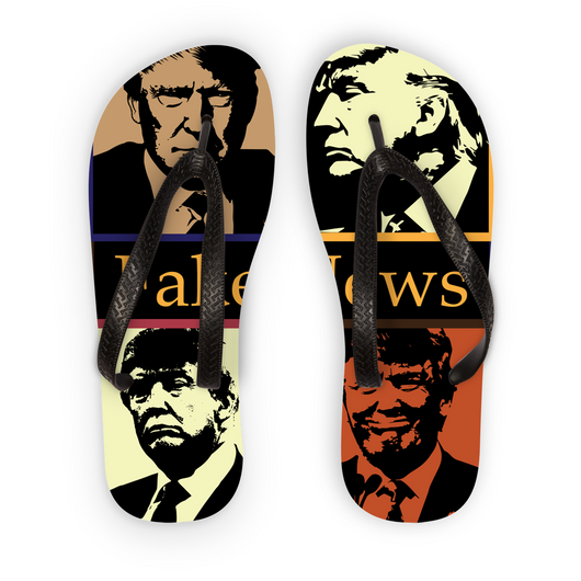 Fake News Flip Flops 4 Trump Head
