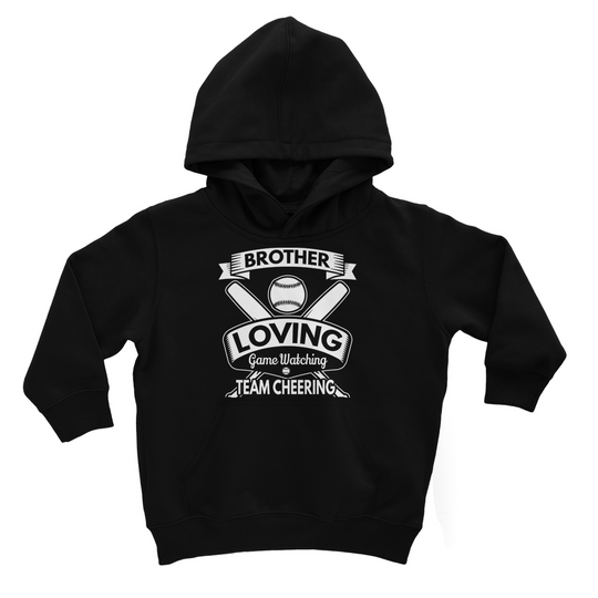Brother Loving Game Watching Kids Hoodie