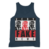 fake news 3 heads trump Very Fake News, 3 Trump Heads, Fine Jersey Tank Top
