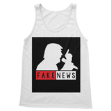 Fake News Trump with Mic Softstyle Tank Top