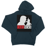 Fake News Trump with Mic College Hoodie