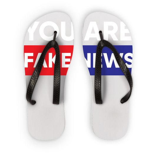 you are fake news Flip Flops