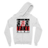 fake news 3 heads trump Very Fake News, 3 Trump Heads, Fine Jersey Zip Hoodie