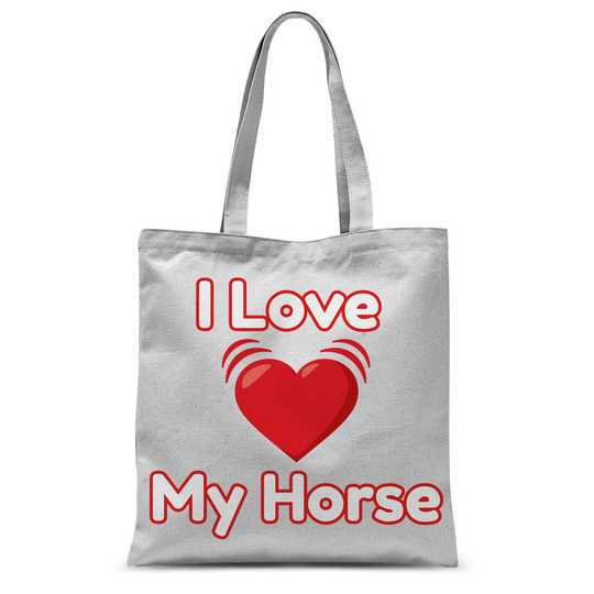 I Love My Horse Tote Bag
