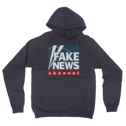 fake news channel California Fleece Pullover Hoodie
