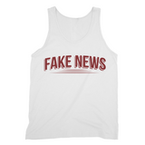 Fake News with Lines Fake News, Text, Underline, Fine Jersey Tank Top