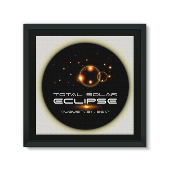 Total Solar Eclipse 8/21/2017 Framed EcoCanvas