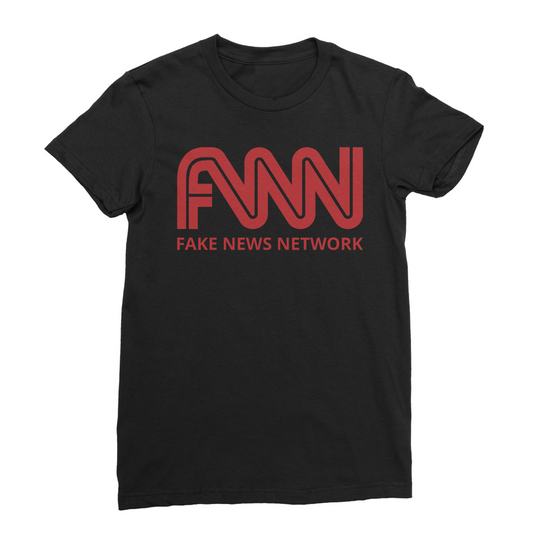 fnn fake news network Women's Fine Jersey T-Shirt