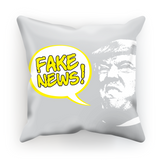 fake news bubble head Fake News Cushion