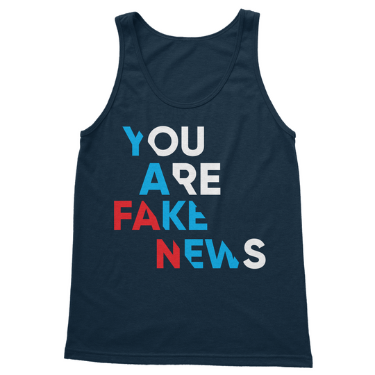 you are fake news diagonal You are Fake News Softstyle Tank Top Shirt Gift Tees