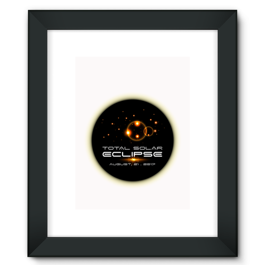 Total Solar Eclipse 8/21/2017 Framed Fine Art Print