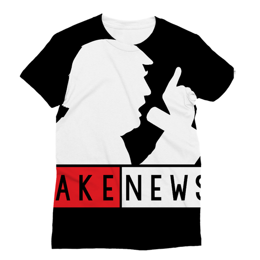 Fake News Trump with Mic Sublimation T-Shirt