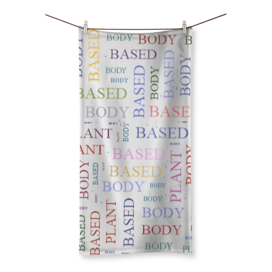 PLANT BASED BODY Beach Towel
