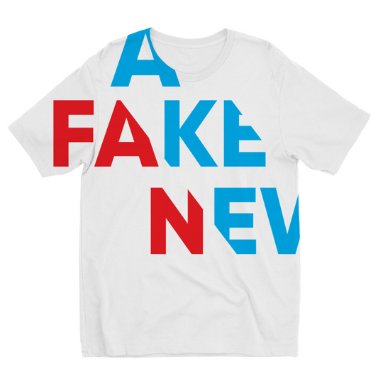you are fake news diagonal Kids Sublimation TShirt