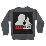 Fake News Trump with Mic Kids Sweatshirt