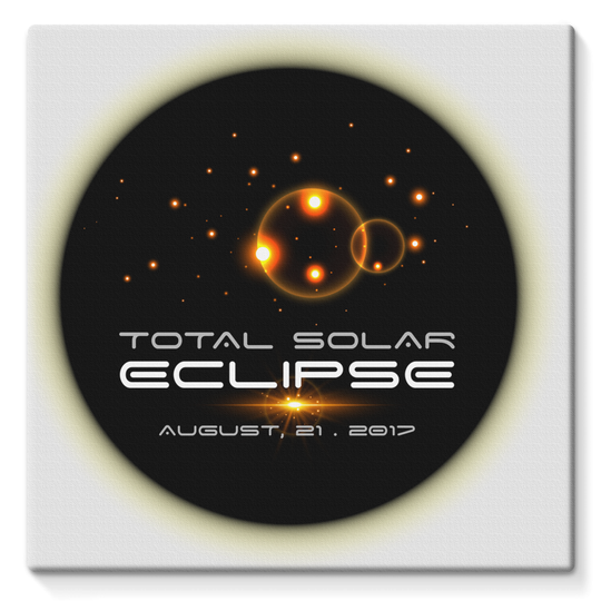Total Solar Eclipse 8/21/2017 Stretched Eco-Canvas