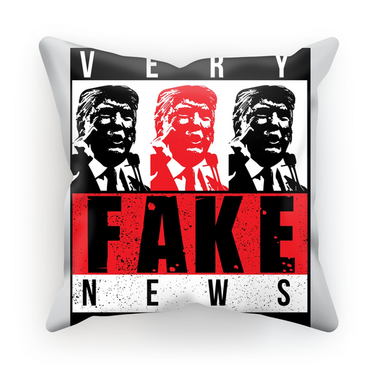 fake news 3 heads trump Very Fake News, 3 Trump Heads, Cushion