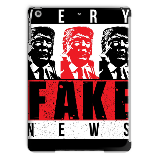 fake news 3 heads trump Very Fake News, 3 Trump Heads, Tablet Case