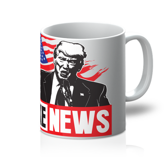 Fake News Trump Union Jack Finger Up Fake News Trump, American Flag, Mugs With Quotes, Mugs For Mom, Mugs For Men, Trump Fake News, Mugs for Dad, Coffee Mugs