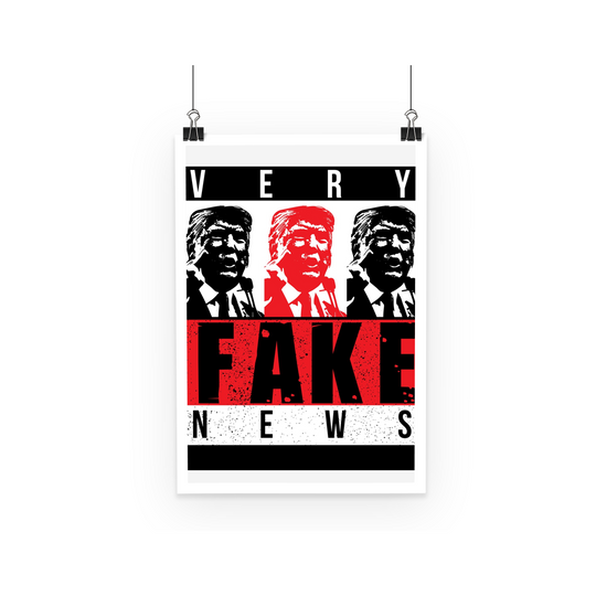 fake news 3 heads trump Very Fake News, 3 Trump Heads, Poster