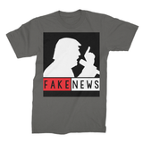 Fake News Trump with Mic Unisex Fine Jersey T-Shirt