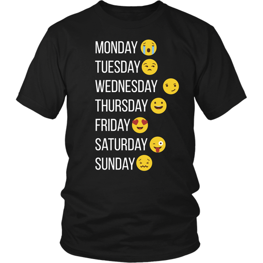 Emoji TShirt, make my week with Emojis