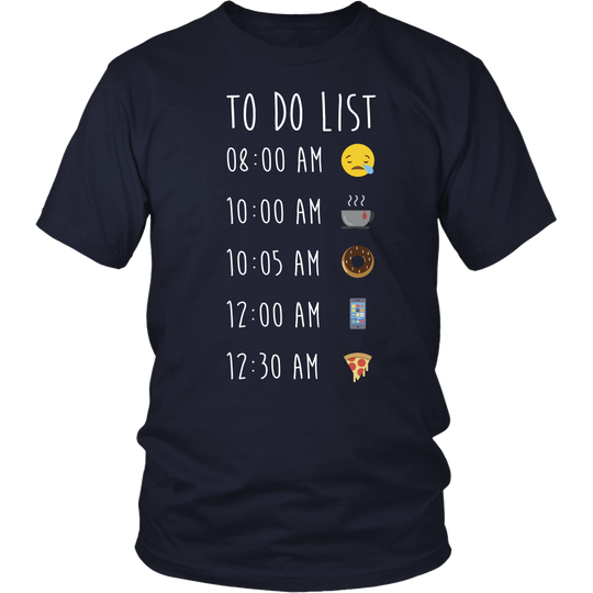 Emoji T Shirts, To Do List